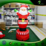 Customized Ratation Air-blown Inflatable Santa Claus With LED Lighting
