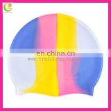 2014 professional factory manufacture competitive price rainbow colors most popular waterproof custom silicone swim cap