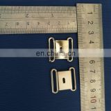 Silver shiny and matt color metal safety clip in 2cm width