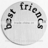B28 LOW MOQ China photo frame locket jewelry initial disc floating locket plates charms