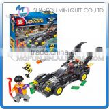 Mini Qute Senye Marvel Avenger super hero Batman Fighter plane chariot building block action figures educational toy NO.SY 302