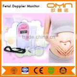 CE medical devices Portable Pocket Fetal Doppler For Pregnant Women Ultrasound Prenatal Baby Heart Rate Detector With battery