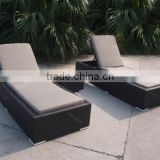 Natural color wicker outdoor furniture nice beach chair adjusable sun lounger                                                                         Quality Choice