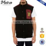 Wholesale Custom OEM Men Plaid Vest Jacket, Outer Wear Vest