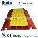 High quality 10 tons 3 channels Rubber Cable Protector