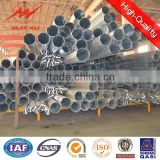 Galvanized Steel Poles 12m electric pole Utility Pole for power distribution Equipment