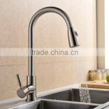 Hot selling Brushed Pull out Single Handle Spring Kitchen Mixer Faucet NO.K027                                                                         Quality Choice
