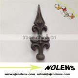 Wrought Iron/Forged Spear Accessories,Ornamental Cast Iron Fence Finials