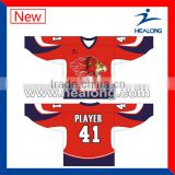 Full Sublimation Printing Customized Ice Hockey Top