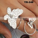 Wholesale Elegant Gold And Silver Plating Butterfly Wedding Smart Ring