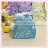 DIY Carving flowers and leaves Luxury wedding invitation candy box event Party supplies for wedding party from factory