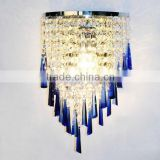 Lustrous colorful crystal hanging wall light