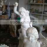Natural hand stone carving marble nude sculptures