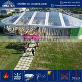 Top selling 850g/sqm PVC fabric coated roof cover nigeria outdoor big frame clear roof wedding party tent