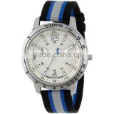 Sport stainless steel case back nylon band watch,custom logo brand watch,japan quartz movt watch