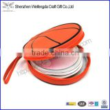 2015 hot sale pu leather basketball style round cd bag with strap