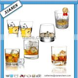 Hot Sale square and round whisky glass/tumbler glass
