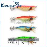 Chentilly CHS013 big eye Luminous squid jig fishing bait hard plastic body with cloth fishing lure