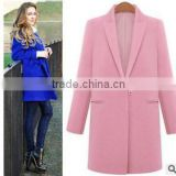 Womens Metal Zip Skinny Jackets long Sleeve Blazer Suit Coat Overcoat                                                                         Quality Choice