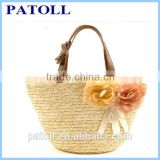 Famous manufacture best classical paper straw beach bag