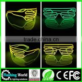 Interesting Vedio music actived crazy funny flashing led glasses