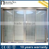 Four panels adjustable aluminium louver door