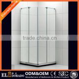 Factory Sale Hotle Furniture SGCC Certificate Square Frosted Glass Shower Extend Shower Screen