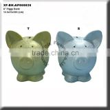 chrome plated ceramic pig bank