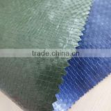 CHINA PP TARPAULIN high density polyethylene leno woven fabric anti-aging two side lamination 3 feet grommets factory sell