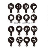 Cheap plastic christmas coffee template and cappuccino coffee stencils