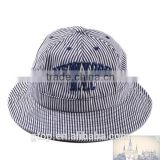 Fashion Bucket Hat Boonie Hunting Fishing Outdoor Cap New York letter embroidered striped