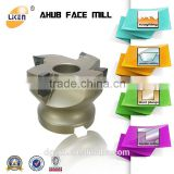 indexable face milling cutter with tungsten carbide mill inserts ,AHUB right angle shoulder face mill ,cnc face mill