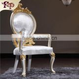 Luxury hand carved baroque armchair Promotional Restaurant Chair /Rattan ASH Wood Dining Armchair/Chinese Dining Chair                                                                         Quality Choice