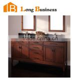 LB-LX2136 Hotel Solid Wood Bathroom Vanity Furniture New Floor Project Wooden Bathroom Cabinet