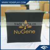 Portable reception counter with logo