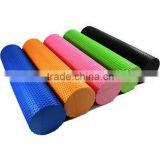 Wholesale High Density EVA Foam Rubber Solid Pilates Closed Massage Yoga Roller With Floating Point