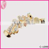 2013 New Latest Trendy Beautiful Ladies Women Crystal Banana Hair Clips