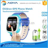 Children Smart watch GSM Phone GPS/AGPS/LBS tracking SOS Geofence Anti-lost