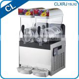 Newest design 2 bowls electric CE approved 304 stainless steel panel commercial ice slush machine for sale