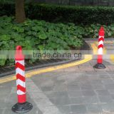 Plastic sign post with rubber base