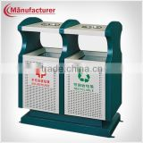 Commercial Green Waste Bin Container Price/Outdoor Metal Litter Bin/Dustbin/Garbage Trash Bin for Sales