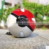 Pokemon portalbe power bank with led light,Pokemon Go 10000mah power bank ,hot Pokoman ball power bank