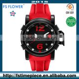 FS FLOWER - Germany Men's Big Watch Case Silicon Watch Band