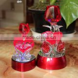 Red Rose With Swan Crystal Wedding Gifts