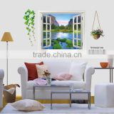 New arrived Windows seas mountain vinyl wall sticke decorate the sitting room the bedroom wall stickers AY893