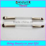 Hot sale Synthetic Acrylic Double sided eyeshadow brush,Transparent makeup eyebrow brush