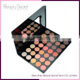 Newly design cosmetic online 35 color matte eyeshadow palette for women warm eye shadow palete