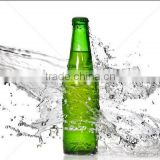 Haonai High Quality FDA certified glass 330ml amber green empty beer bottle supplier brewing custom beer growler supply