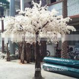 2017 China supplier ornamental flower tree white artificial cherry blossom tree for wedding