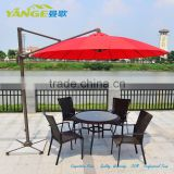 sunshade custom rain umbrella fabric aluminium frame with marble base